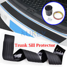 Car Rear Bumper Hatch Deck Sill Protector Plate Rubber Cover Anti Scartch Guard
