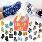 """Lucky Box"" Vaenait Baby Kids Toddler Clothes Boys Non-slip Socks 5/10Set 1T-7T"