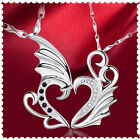 Fashion Modern Stainless Angel Wings Pendant Necklace For Men Women Couple Lover