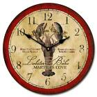 "Vintage Lobster LARGE WALL CLOCK 10""- 48"" Whisper Quiet Non-Ticking WOOD HANDMAD"