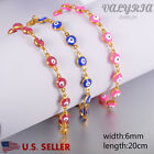 VALYRIA NEW 316L Stainless Steel Women's Evil Eye Gold Fashion Bracelet 7.87''