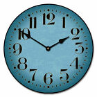 Houston Blue LARGE WALL CLOCK 10- 48 Whisper Quiet Non-Ticking WOOD HANDMADE