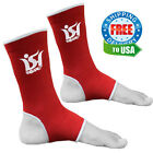 Ankle Foot Support Anklet MMA Boxing Brace Guard Pads Kick Muay Thai UFC Red