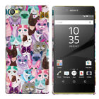 """For Sony Xperia Z5 Compact 4.6"""" Various Design Protector Hard Back Case Cover"""