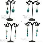 Silver Plated Natural Turquoise Stone Leverback Earrings