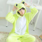 Hot Kigurumi Pajamas Animal Cosplay Costume Unisex Adult Onesie Sleepwear Frog
