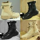 Rustproof Eyelets Sports Military Tactical Ankle Boots Leather Army Hiking Shoes