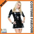 Womens Sexy Nun Sister Religous Hens Night Fancy Dress Costume All Sizes