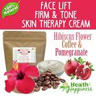 earthbody HIBISCUS FLOWER COFFEE & POMEGRANATE FACE LIFT FIRM & TONE CREAM .
