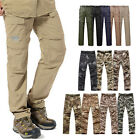 Mens Hiking Camping Fast drying Pants Tactical Military long & short Trousers