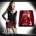 punk futuristic cosplay city of light patent leather mini pencil skirt SKT01102