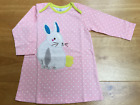 BABY GIRLS EX MINI BODEN APPLIQUE LONG SLEEVE JERSEY DRESS 0 3 6 12 18 24 EASTER