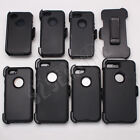 For iPhone 4/5/6S/7 Plus Black Case Cover(Clip Fits OtterBox Defender)