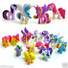 12PCS My Little Pony Cake Toppers PVC Kids Girls Toys Gift Figurines Decoration