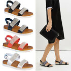 Ladies Summer Slingback Flat Womens Diamante Gladiator Open Toe Sandals Shoes