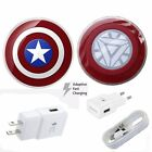 OEM Travel Fast Charger For Samsung S7 S7 Edge Marvel Qi Wireless Charging Pad