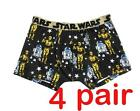 4 Pairs - Star Wars Men's Size M L Cotton Boxer briefs Underwear $29.99 AUD