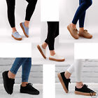 WOMENS FLAT TRAINERS  CREEPERS  LACE UP SUMMER PLATFORM FLAT CHUNKY LADIES SHOES