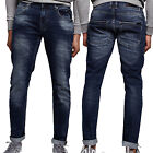 Mens Foray Skinny Slim Fit Jeans Dakota Stonewash Designer Stretch Denim Pants