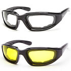 Padded Wind Resistant Sunglasses Extreme Sports Motorcycle Riding Glasses Clear