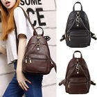 Faux Leather Convertible Small Sling Backpack Ruchsack Chest Pack Purse Unisex