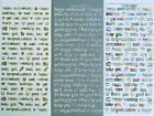 Mixed GREETINGS PEEL OFF STICKERS Get Well Baby Luck Anniversary Birthday Thank