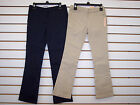 Внешний вид - Girls Dockers Navy or Khaki Skinny Stretch Bootcut Uniform Pants Size 5 - 16