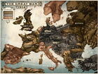 Caricature Map of Europe Steampunk Art Wall Print POSTER