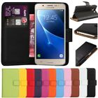 Premium Leather Flip Wallet Case Cover For Samsung Galaxy J5 2016 + Screen Guard