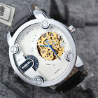 Luxury Men Oversized Big Dial Leather Gold Case Automatic Mechanical Sport Watch