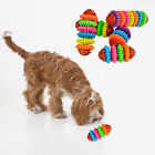 Durable Colorful Gear Swivel Dental Care Dog Chew Toy Teethers Pet Products A1F