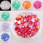60pcs  Heart Shaped Spacer Beads for Diy Craft/Jewelry Acrylic 9mm AB Color