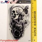 Large Tattoo Demon Skull Devil Butterfly Eyes Ghost Waterproof Sticker 95