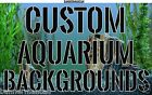 """Custom Aquarium Backgrounds 18"""" H Pick or Send Any Image  / Various Lengths"""