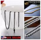 VALYRIA 316L Stainless Steel Men's Fashion Cable Chain Necklace 22'' 2.5mm