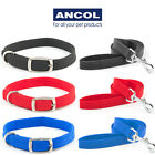 Ancol Softweave Nylon Dog Collar Black Red Blue Soft Weave Lead