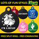 Funny Cute Graphic Dog Pet Puppy ID Tag Personalised Engraved Aluminium 31mm L