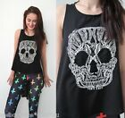 sale GRUNGE forever hot SKULL DIP TAIL BACK SINGLET TANK TOP 6 8 10 12 new