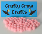 7mm POM-POMS IN PACKS OF 100 PIECES 12 BEAUTIFUL COLOURS AVAILABLE