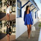 Daily Sexy Dresses Chiffon Dacron Casual Present Belt 3/4 Sleeve Beach Party New