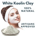 POWDER WHITE KAOLIN CLAY Face Skin Mask Pure & Natural fine best detox clay