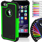 Shockproof Hard Case Cover for iPhone 4/4s 5/5s 6/6s FREE Screen Protector
