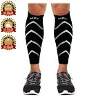 Calf Leg Compression Running Sleeves Brace Support stretch Shin Splints Sleeve
