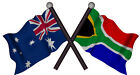 AUSTRALIA South Afrika FLAGS VINYL DECAL  80MM BY 50 MM apr.