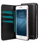 Genuine Melkco Fashion Leather Cover for iPhone 6/6s CARBON PU BLACK O16360