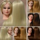 Salon Hairdressing Training Head Mannequin + New Arrival Makeup Doll Head +Clamp