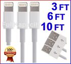 New 3x Usb Lightning Cable Sync Data Charger Cord For Apple Iphone Ipod Itouch