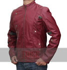 Guardians of the Galaxy Chris Pratt Red REAL Leather Jacket-Money Back Guarantee