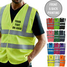 Personalised Custom Printed Hi Viz High Vis Safety Vest Waistcoat En ISO20471 C2
