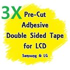Lot of 3 Pre-Cut LCD Adhesive Double Sided Tape For Samsung & LG Smartphone USA
